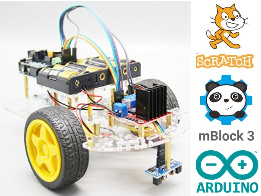 Mblock 3 Arduino Extension For 2 Wheel Robot Car Hackster Io