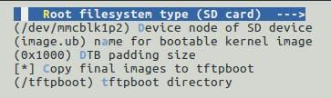 Root filesystem type