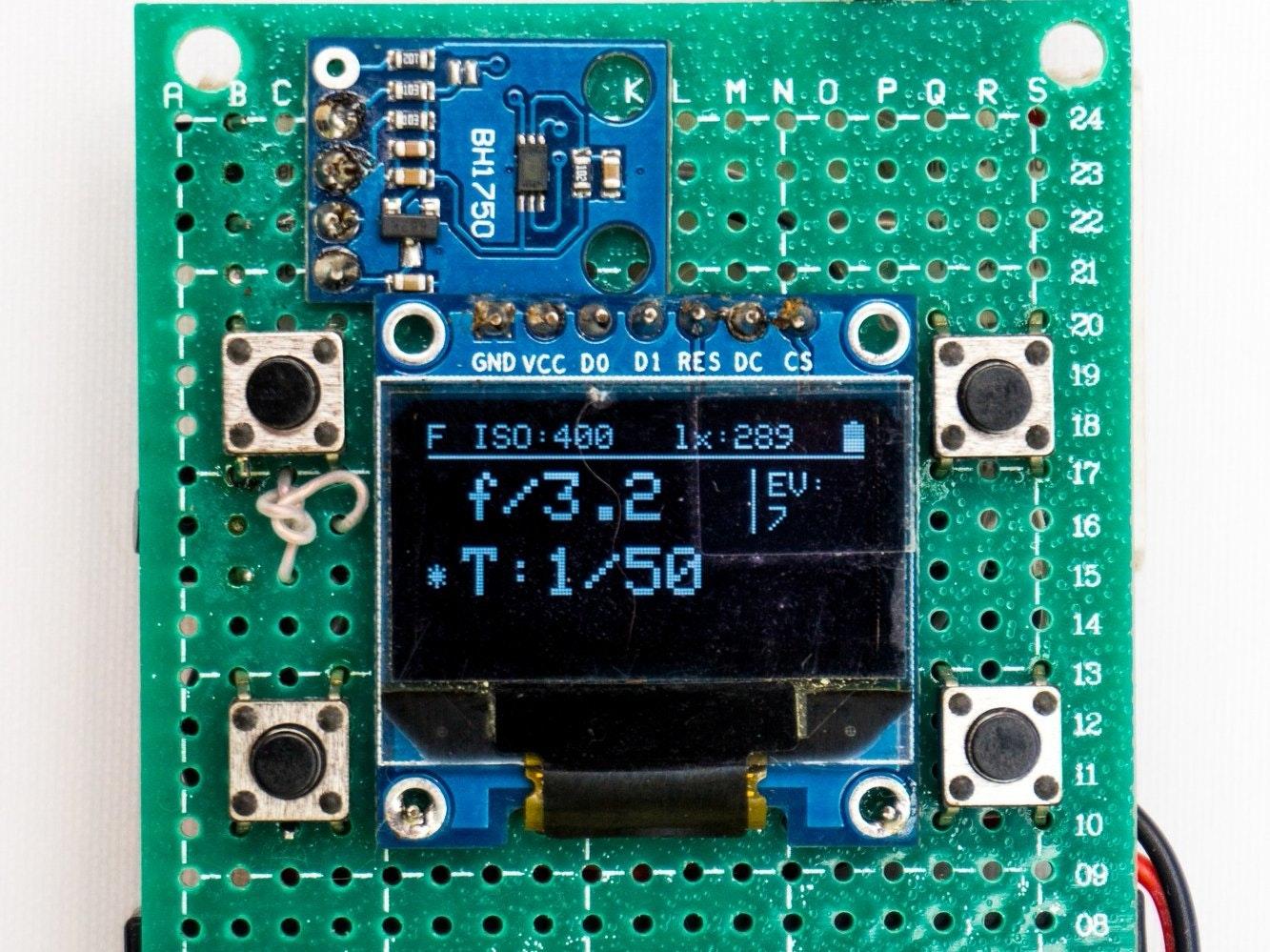 lightmeter flashmeter for photographers arduino project hub