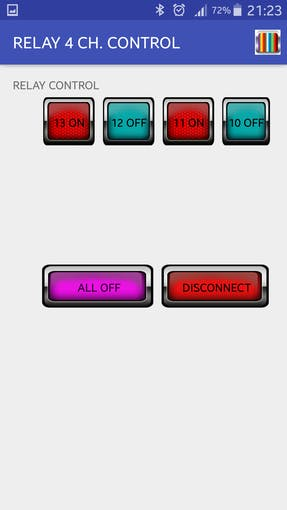 Arduino – Bluetooth 4 Channel Relay App - Arduino Project Hub