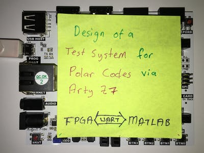 Design of a Test System for Polar Codes in FPGA
