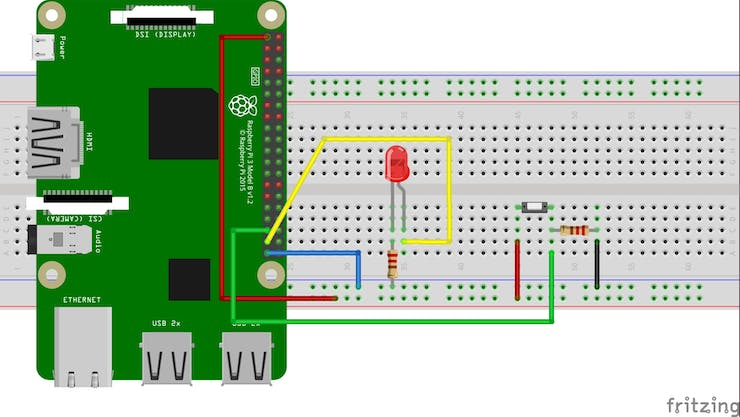 Push Button and led Schematic