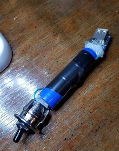 Handlebar battery
