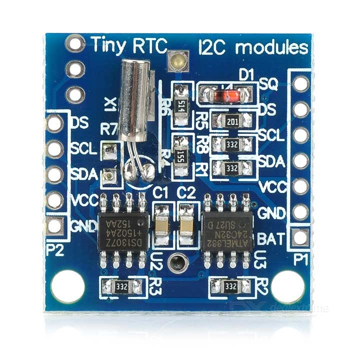 Real Time Clock DS1307 with DS18B20 Temperature Sensor