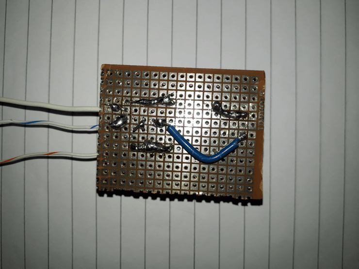 Back view soldered part