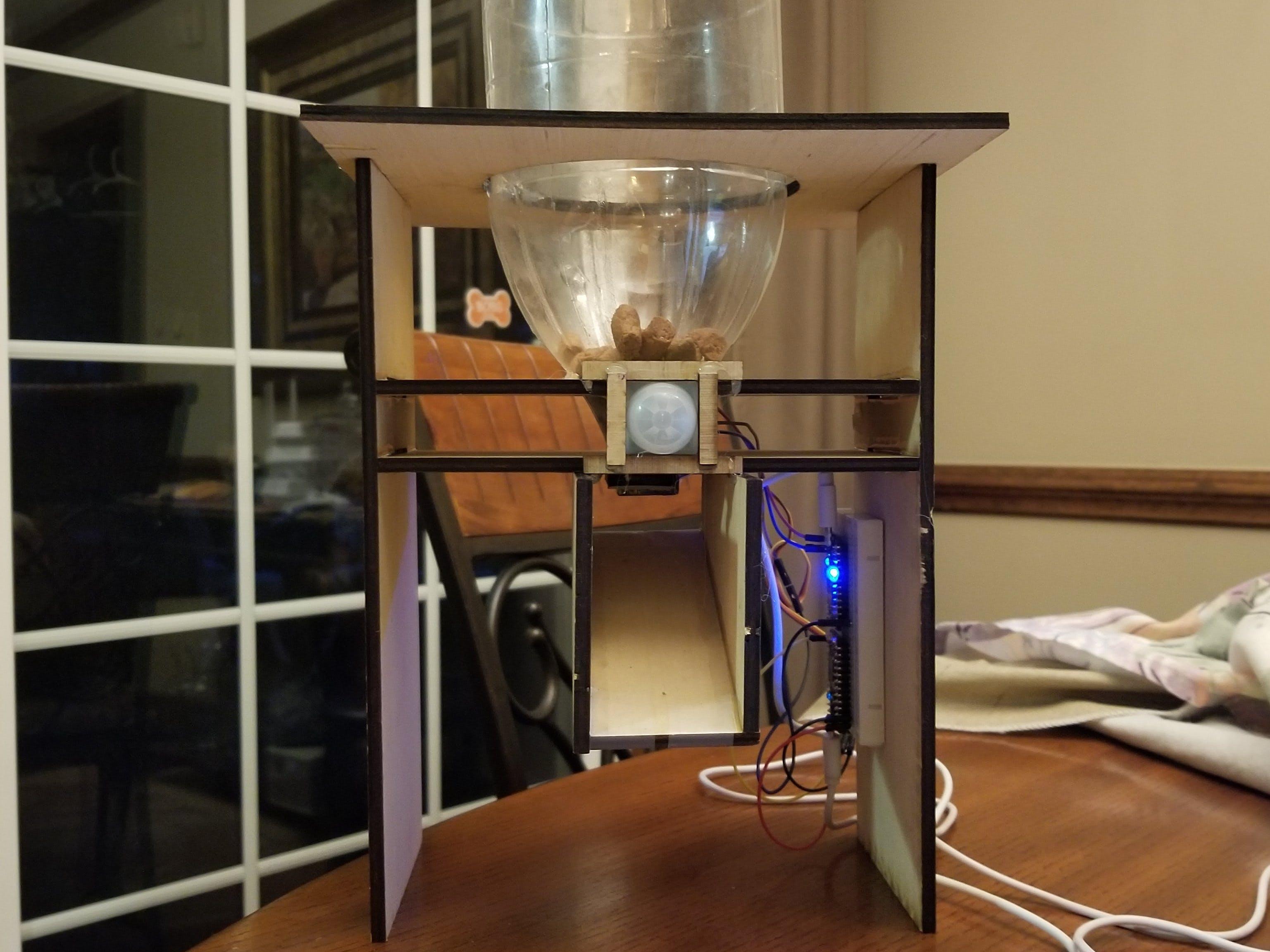 Dog Motion Sensor and Food Dispenser
