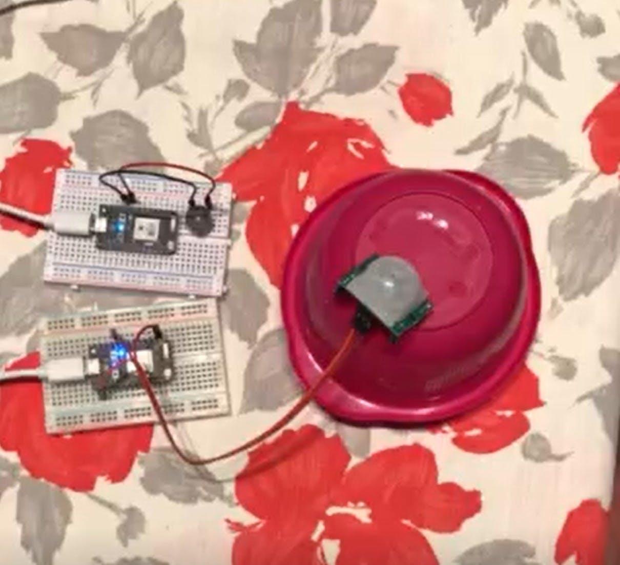 Alarm and sensor setup