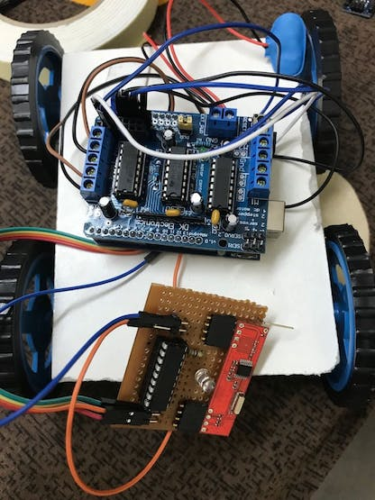 Robot Card with receiver and shield