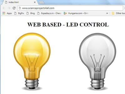 How to Control LED from Simple Web Page Wirelessly