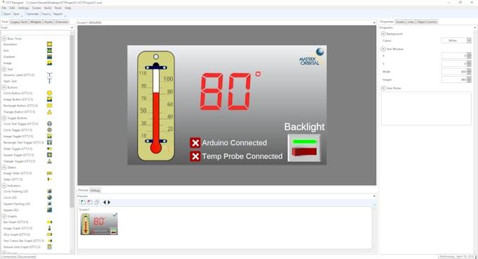 Matrix Orbital GTT Thermometer GUI