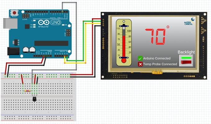 Matrix Orbital GTT Thermometer Schematic