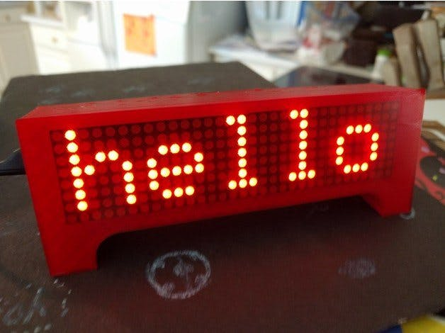 ESP8266 Wemos Clock Scrolling Weather News and More