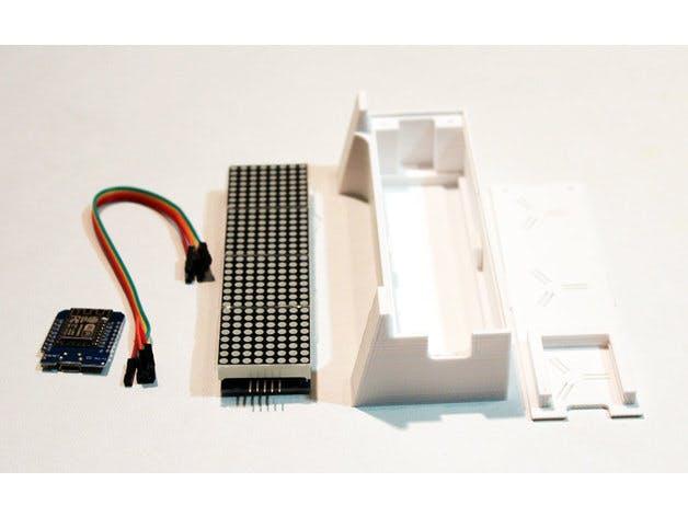Wemos D1 Mini, LED Dot Matrix, 3D Printed parts