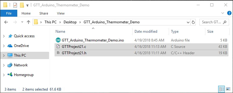 .c and .h file in the Demo Source directory