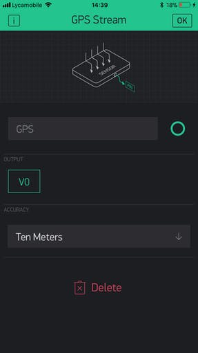 Set the pin to V0 (Virtual Pin 0) and click OK
