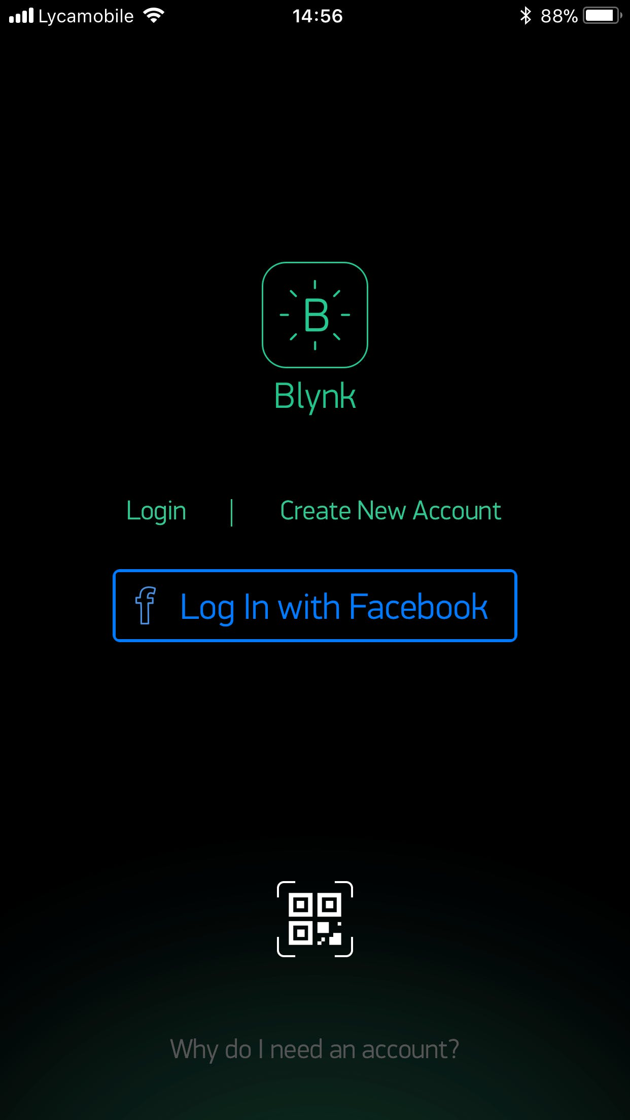 The first step is to open the app and sign in or create an account