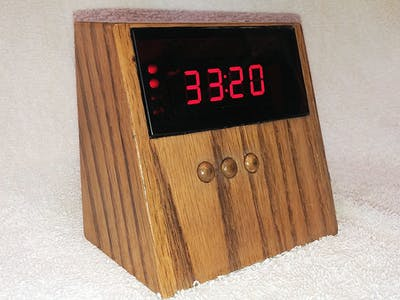 Retro 1980s LED Clock/Count Up Timer