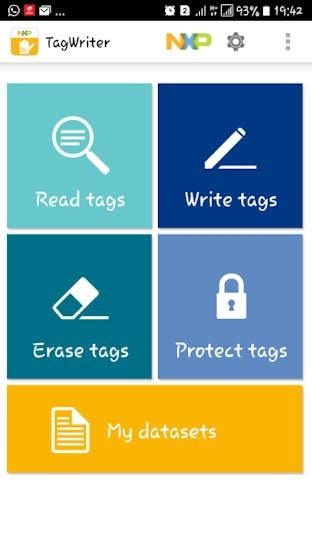 NFC Tag Writer App