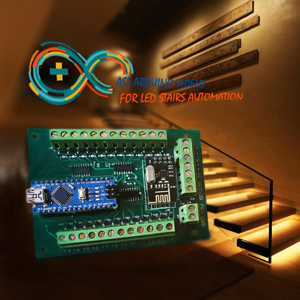 Automatic LED Stairs Lighting Arduino Shield