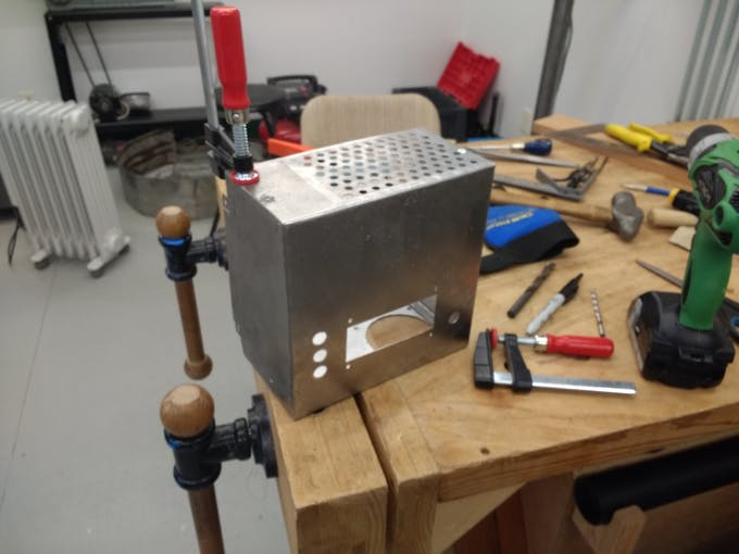 Built a electrical box from some sheet metal.