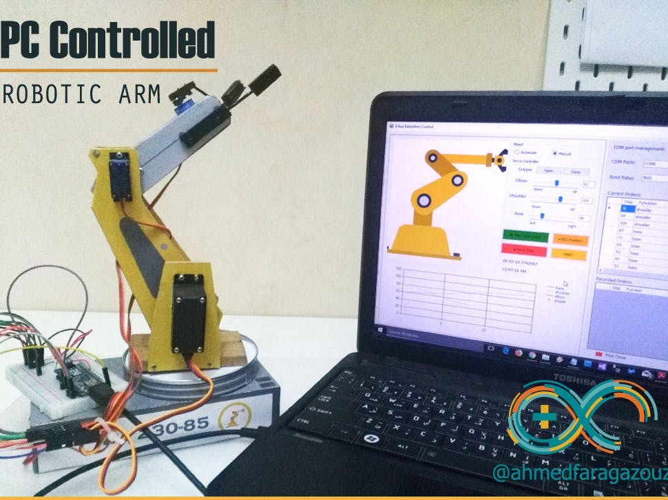 PC Controlled Robotic Arm