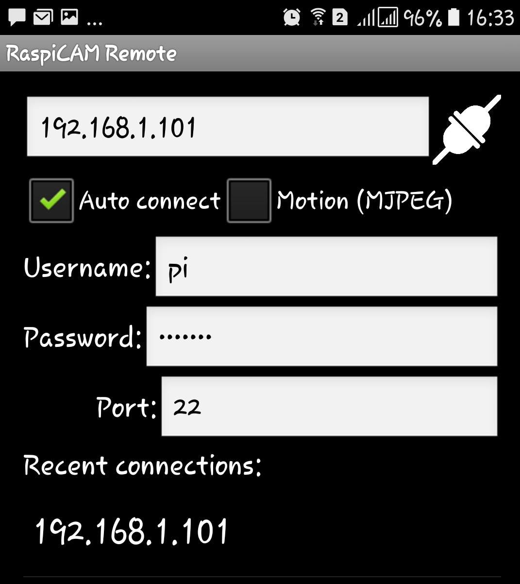 RaspiCam Remote Mobile App