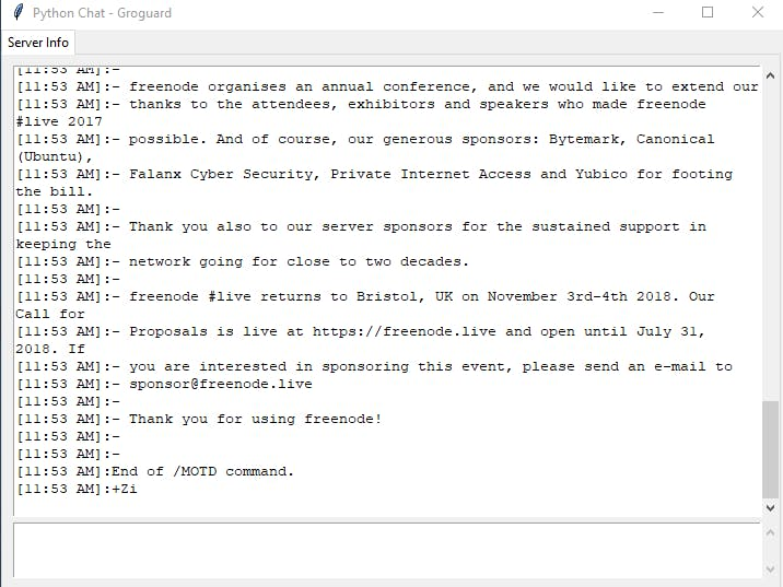 PocketChat: A Lightweight Python-Based IRC Client