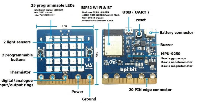 BPI-Webduino:bit Board For STEAM Education - Arduino Project Hub