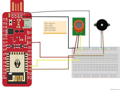 Smoke and Gas Detection Using MQ-2 sensor and Piezo Buzzer