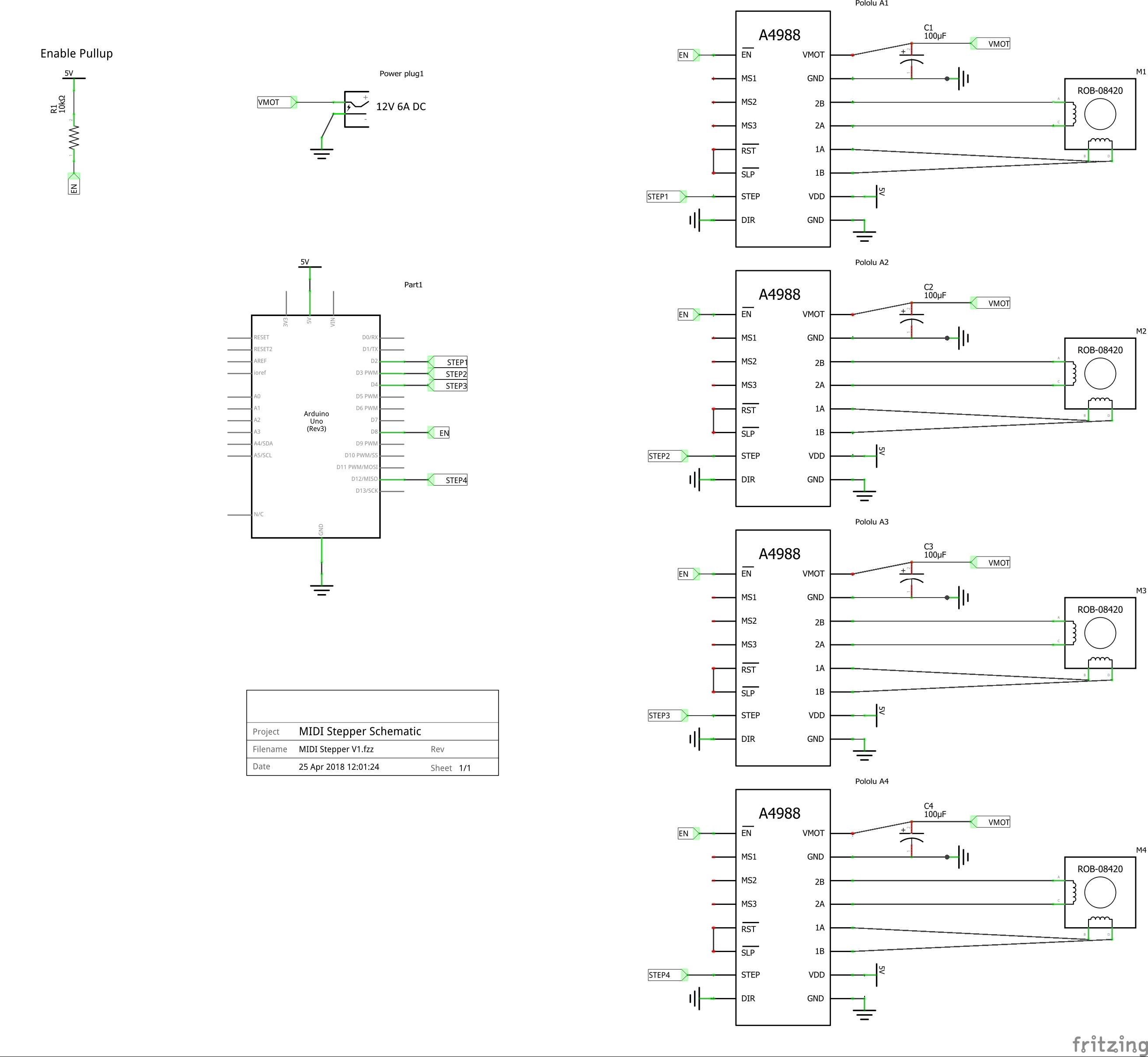 Arduino MIDI Stepper Synth - Hackster io