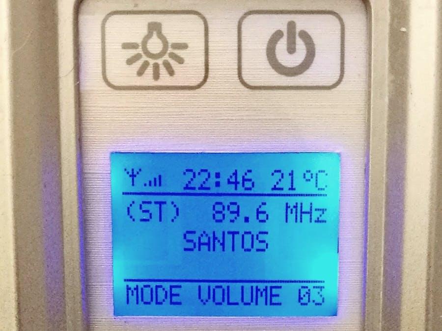 Arduino-Based Shower Cabin FM Radio