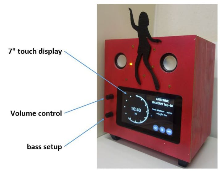 New position of the controls for volume and bass
