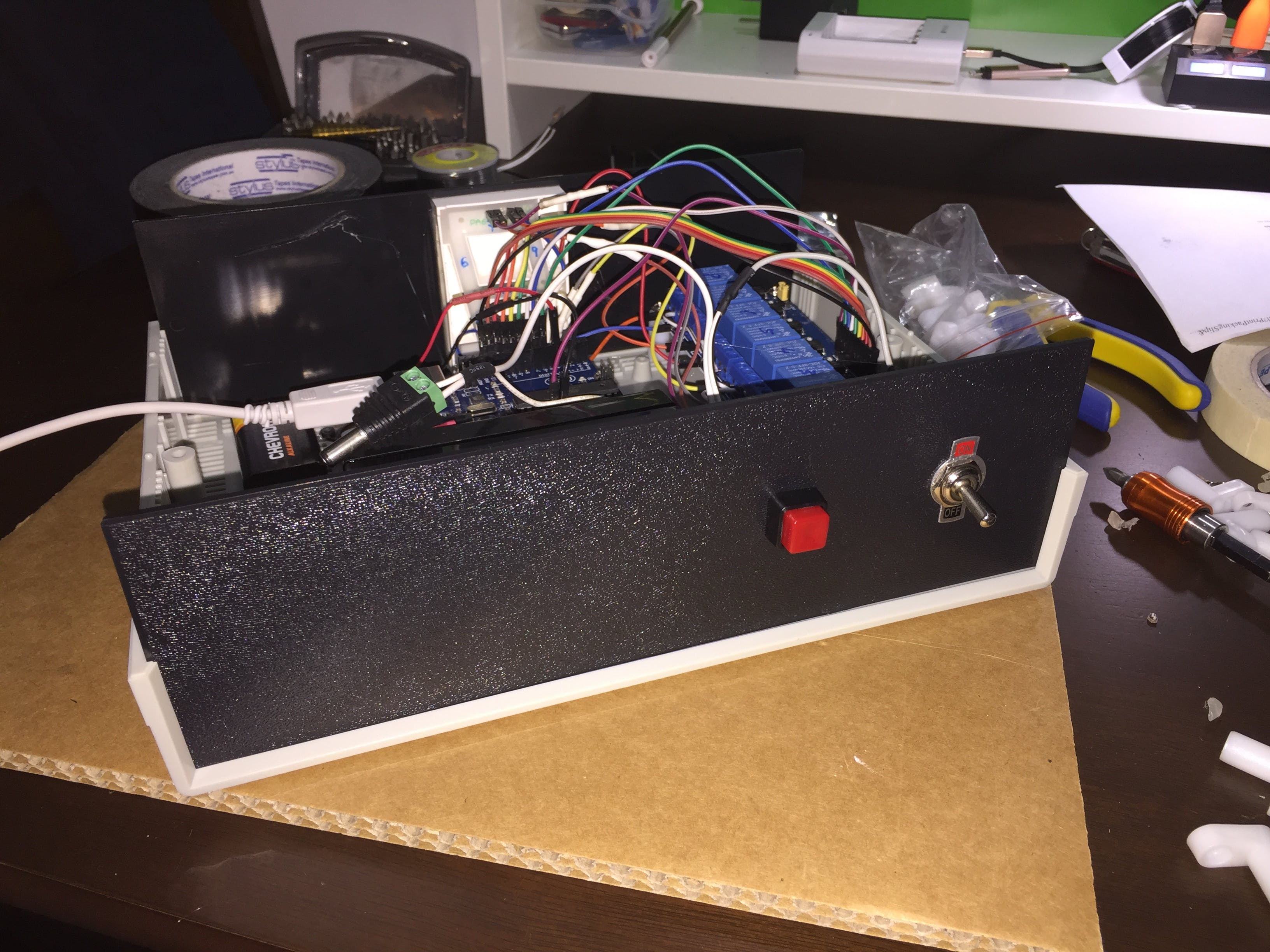 Back Panel View of ON/OFF flip switch & reset button