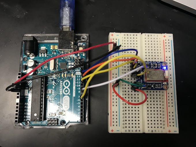 Connecting the BLE module to an Arduino.