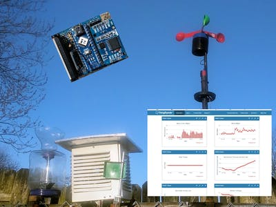 Rube Goldberg Weather Station with Internet Data Storage