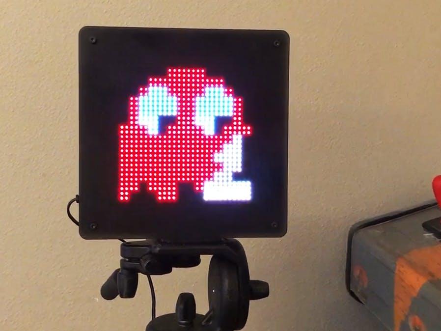 LED Pixel Art Frame with Retro Arcade Art