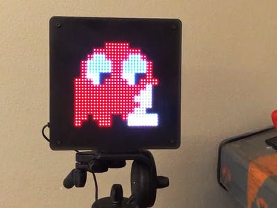 LED Pixel Art Frame with Retro Arcade Art