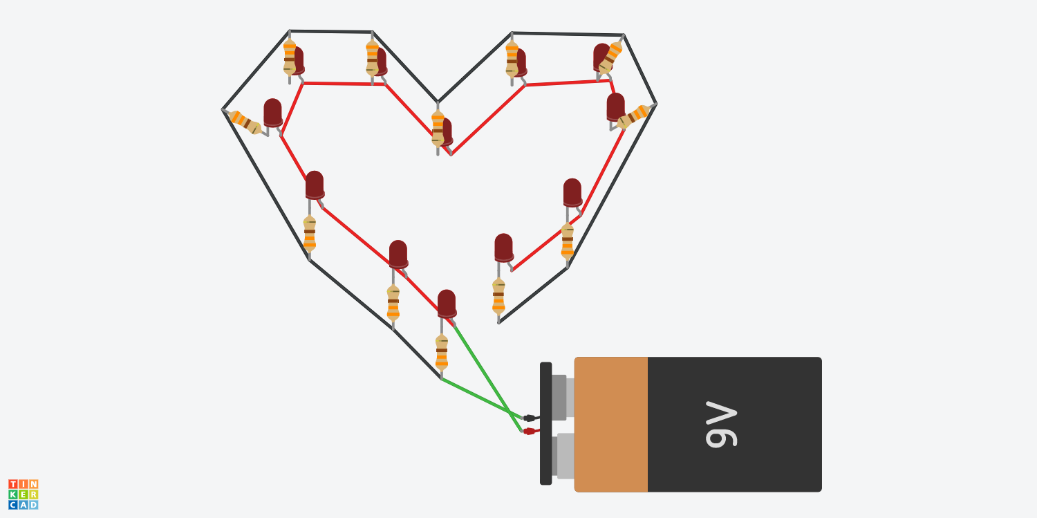 How To Make An Led Heart Display Parallel Resistor Circuit Together With In Swanky Leelo E3ye9jbnqw