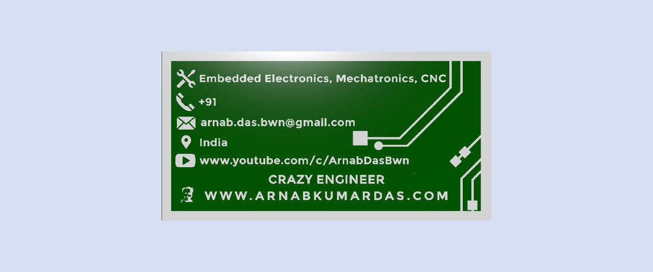 Crazy Engineer's PCB Business Card - Hackster io