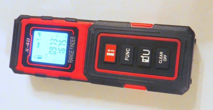 That's how laser tape measure looks before disassembling