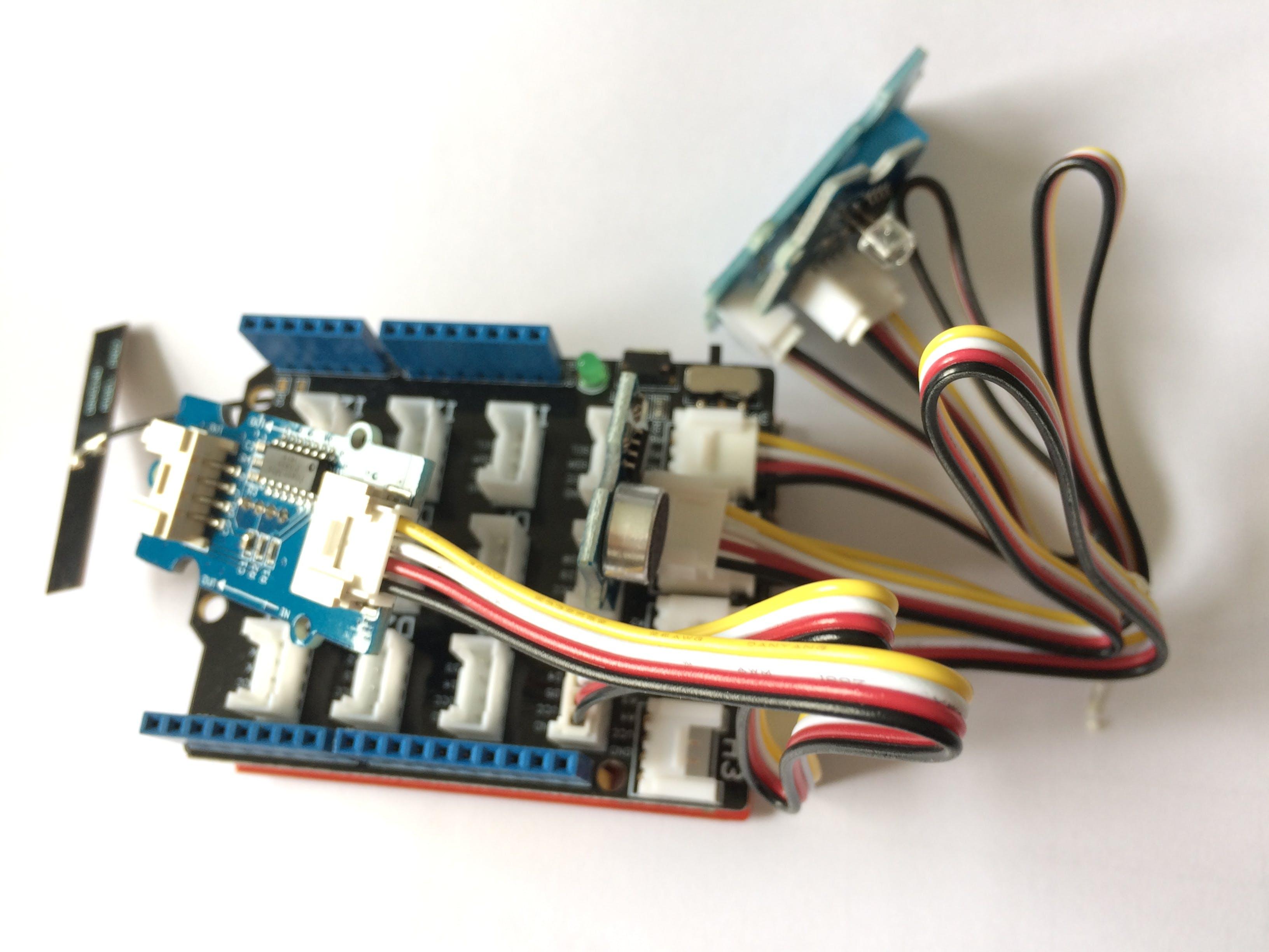 Figure 2. SeeeduinoCloud with sensors