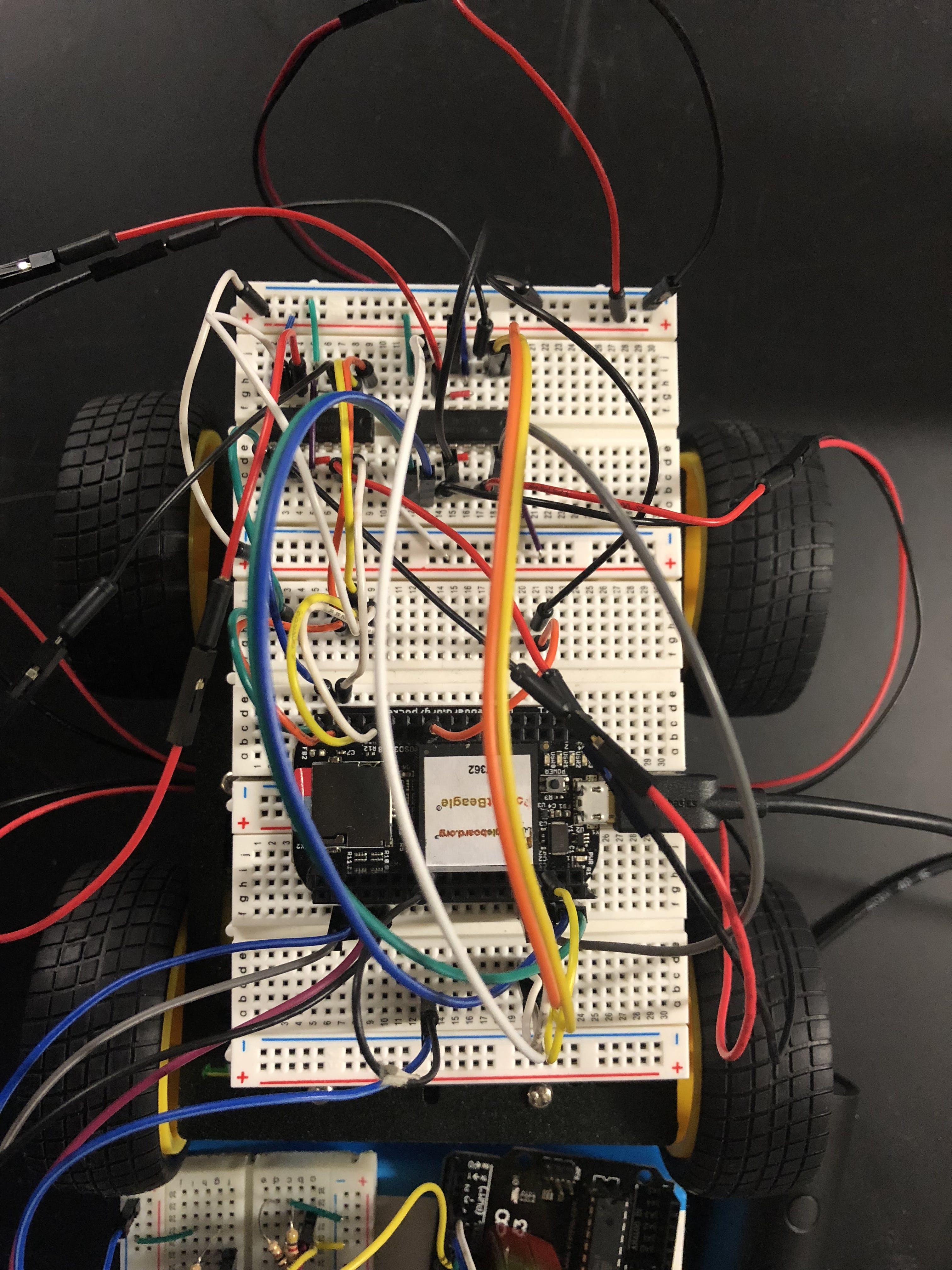 PocketBeagle Wiring to the Motor Drivers