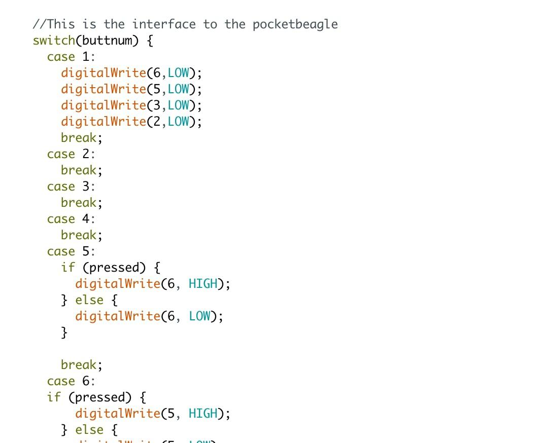 Arduino Code Addition: Case Statements