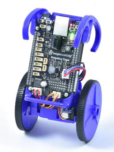 Fully Assembled eduMIP with the BeagleBone Black and Robotics Cape