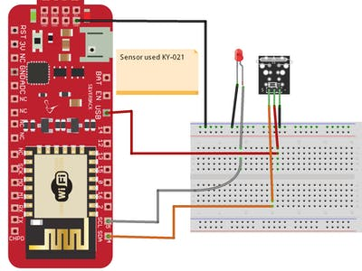 Detect Magnetic Field Using Mini Read Sensor (KY-021)