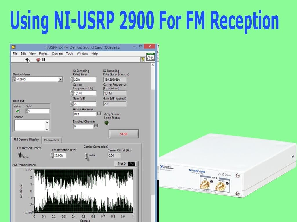 Using NI-USRP 2900 for FM Reception