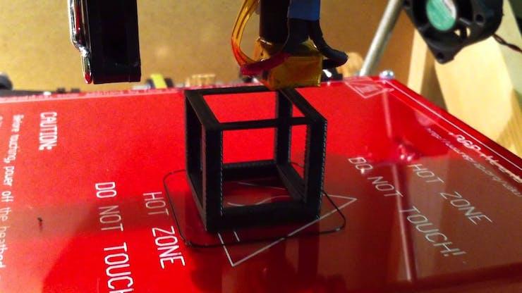A sample 3d printed cube