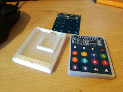 3D-Printed 16-Key USB MIDI Using Arduino Pro Micro
