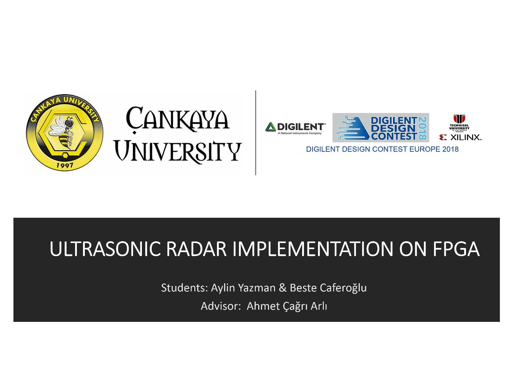 Final: Ultrasonic Radar Implementation on FPGA