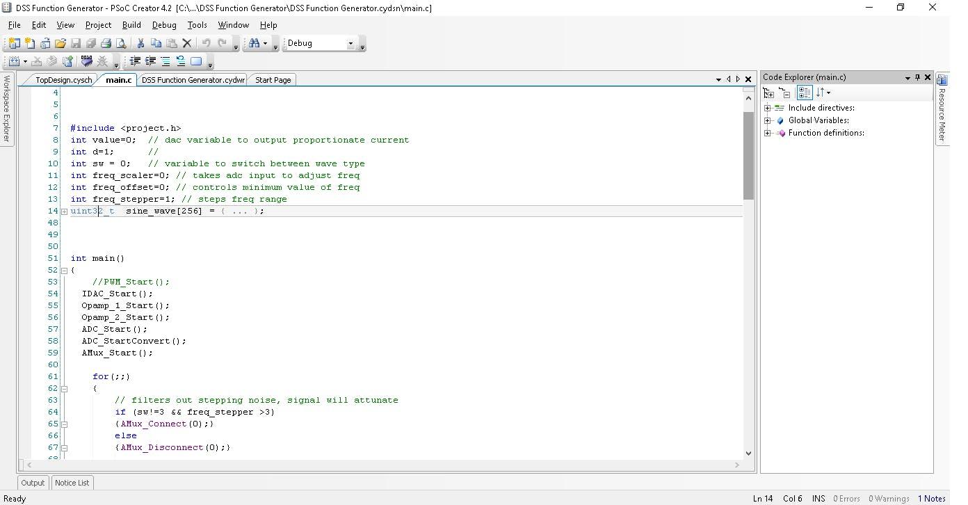 Code for MCU